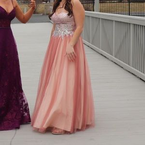 PROM Pink Strapless Dress